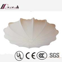 Tipo blanco del paraguas de la tela blanca decorativa del hotel europeo lámpara de techo