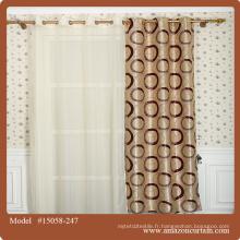Jacquard Blackout Fabric Decorative Materials Rideaux en tissu métallisé