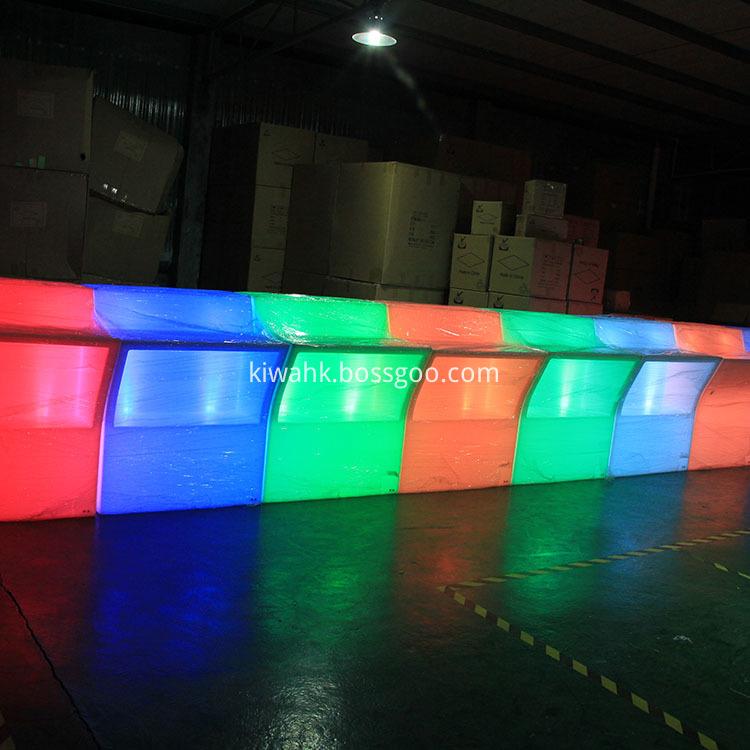 Factory Price Illuminated Led Furniture Bar Table