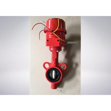 Red Color Butterfly Valve für den Brandschutz