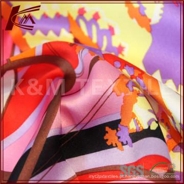 Tecido de Habotai de seda natural para têxteis seda couro impresso vestido Floral de seda tecido