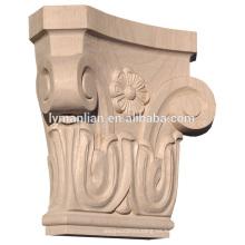 Capitales de madera decorativos tallados en madera