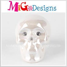 Popular New Design Ceramic Skull Shaped Piggy Bank