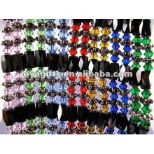 """Magnetische bunte Glas Perlenverpackung Armbänder & Halskette 36 """""""