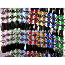 """Magnetic Colorful Glass Beaded Wrap Bracelets & Collier 36 """""""