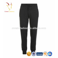 Cashmere elegante misturada solta calças / calças para homens