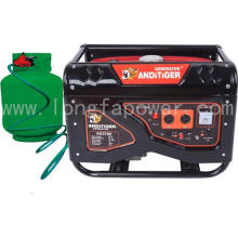2-6.5kw Silent LPG and Gasoline Double Use Generator with CE