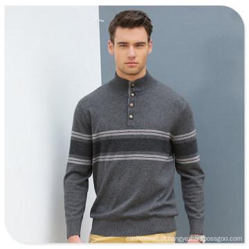 Camisola de caxemira de homens de pescoço de polo / camisola de Natal tricô padrões