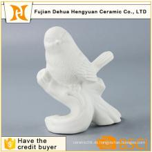 Dekorative verglaste weiße Keramik Vogel Handwerk