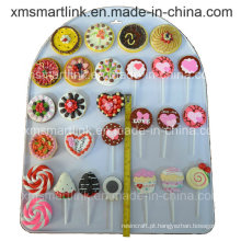 Polyresin Lollipop e Candy Refridgerator Magnet Crafts