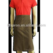 Delantal largo de algodón de mitad uniforme de chef de cintura