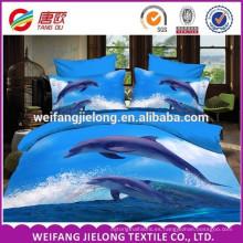Tela de cama 100% poliéster 3D tejida conjunto de sábanas de poliéster impresa tela