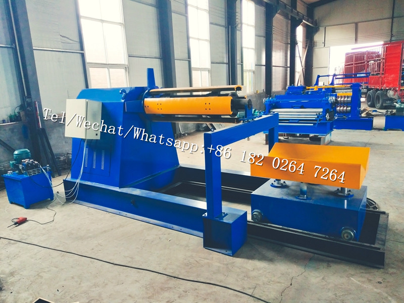 steel panel Cutting Slitting and Rewinding Machine from Roll to Roll