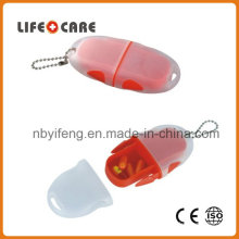 Pill Box with Keychain for Promotion