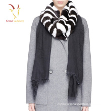 Winter Warm Wool Scarf With fur Customise