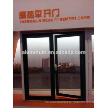 Puertas de cristal laterales de aluminio