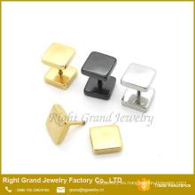 Más reciente diseño 316L acero inoxidable negro plata oro plateado falso enchufes pendientes