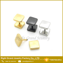 Neuestes Design 316L Edelstahl Silber Schwarz Vergoldet Fake Plugs Ohrringe