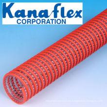 Kanaflex ligero y flexible VS Kanaline Una manguera de succión para la succión en camiones volquete de vacío. Hecho en Japón