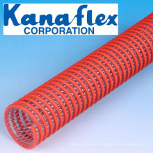 Kanaflex light weight and flexible V.S Kanaline A suction hose for suction on vacuum dump trucks. Made in Japan