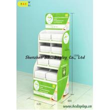 Soporte de exhibición de cartón, estante de exhibición de papel, PDQ, caja de regalo (B & C-A069)