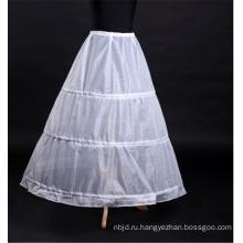 Оптовая женщин платье белый свадебные кружева кринолин нижняя юбка для новобрачных