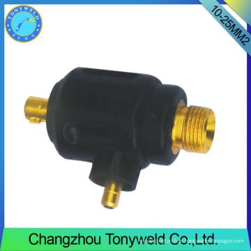 10-25mm2 torção de soldagem macho TIG adptor de cabo traseiro
