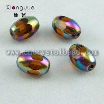 oval shape coated crystal Color Bead
