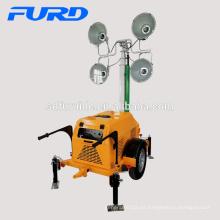 Torre de luz de construcción móvil pequeña de mástil alto con motor famoso (FZMT-S1000)