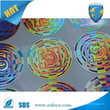 Etiqueta de holograma de rótulo de vinil de alta qualidade