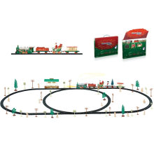 Lighting DIY Chrsimas Train Xmas Gifts Blocks Santa Toy
