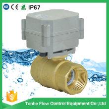 1 pulgada de latón 12V 24V Motor eléctrico Válvula de bola pequeña de 2 vías para Smart Home Control