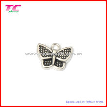 Kundenspezifischer reizender Schmetterlings-Metallcharme-Anhänger