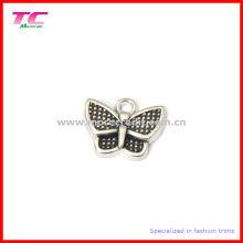 Colgante encantador de encargo del encanto del metal de la mariposa