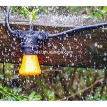 СЛТ-1410 черный 5мм шнура Сид теплый белый Рождество декоративный свет строк