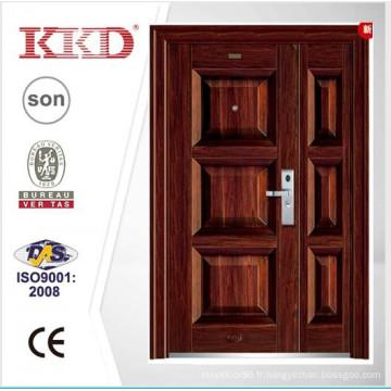 2015 nouvelle porte en acier KKJ-355 b pour l'un et demi porte feuille utilisé dans la porte principale