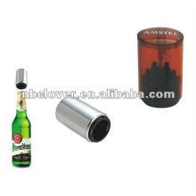 Impresión de forma redonda Cerveza de plástico empujar hacia arriba abridor de botella de plástico