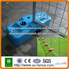 PVC revestido soldado temp valla (ISO9001 fabricante)