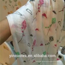 Von China billig dünne Bio-Baumwolle Musselin Stoff
