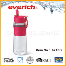 New Products Empty Plastic Bottle With Srew Straw Lid
