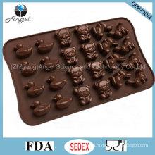 Симпатичные животные мультфильм Силиконовые формы для выпечки хлеба для шоколада и торта Si26