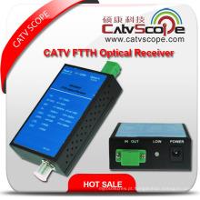 China fornecedor High Performance 1way Saída Agc Controle CATV FTTH Mini Receptor Óptico