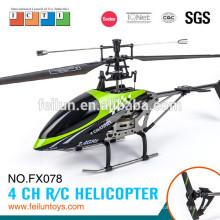 FX078 44cm 2.4G 4CH sola lámina lámina rc helicóptero del juguete con el certificado de CE/ROHS/FCC/ASTM del girocompás