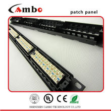 Made In China Soluciones de red Cat5e / cat6 con jacks 24/48 Best Price t1 patch panel