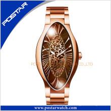 Хорошее качество уникальный дизайн мода роскошные овальные часы для женщины