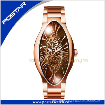 Good Quality Unique Design Fashion Luxury Oval-Shaped Watch for Woman