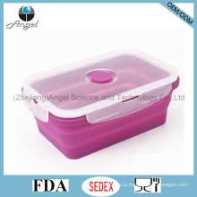750мл складной силиконовой пищи Bento Box FDA утвержден Sfb02