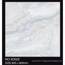 3D Digital Inkjet 600X600mm Full Polished Glazed Marble Look Pierres de sol en porcelaine brillant