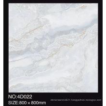 Carreaux de plancher de porcelaine brillants polis par marbre polychrome de 3D jet d'encre 600X600mm de 3D