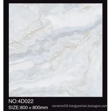 3D Digital Inkjet 600X600mm Full Polished Glazed Marble Look Glossy Porcelain Floor Tiles